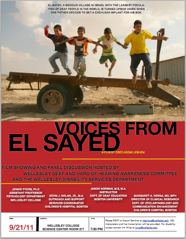 Voices from El-Sayed